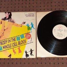 Discos de vinilo: EVERYBODY IN THE WHOLE CELL BLOCK ¡ - VARIOS ARTISTAS - SPAIN - REGULAR RECORDS - REF HYB LP 4 - L. Lote 206374443