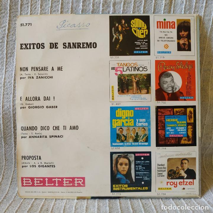 Discos de vinilo: EXITOS DE SAN REMO 1967 - IVA ZANICCHI / ANNARITA SPINACI / LOS GIGANTES / GIORGIO GABER -EP BELTER - Foto 2 - 206375198