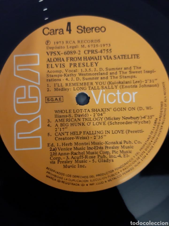Discos de vinilo: ELVIS PRESLEY. ALOHA FROM HAWAII VIA SATELITE. 1973 ESPAÑA. LABEL RCA VICTOR. - Foto 2 - 206387521