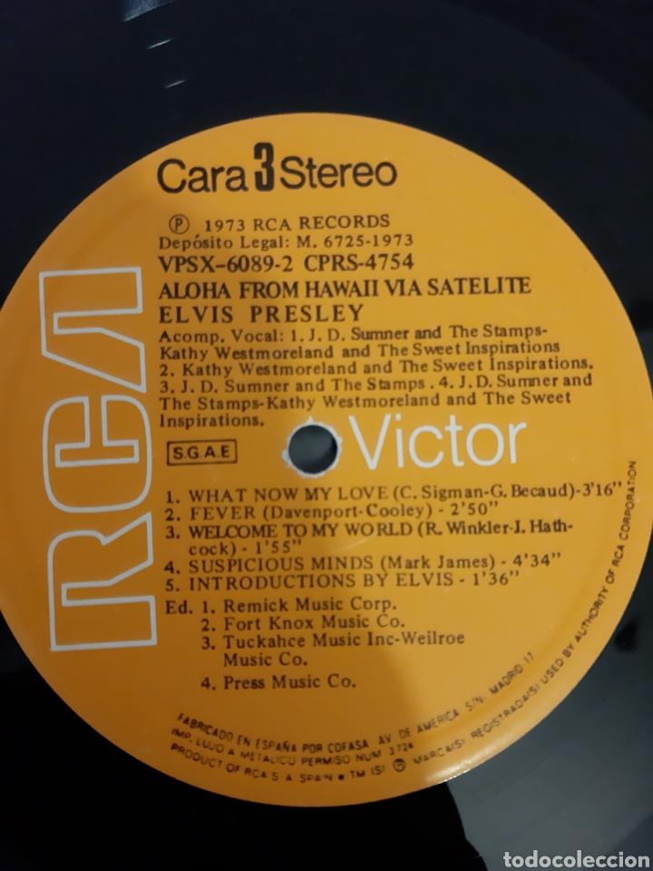 Discos de vinilo: ELVIS PRESLEY. ALOHA FROM HAWAII VIA SATELITE. 1973 ESPAÑA. LABEL RCA VICTOR. - Foto 3 - 206387521