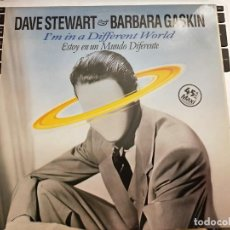 "Discos de vinilo: DAVE STEWART & BARBARA GASKIN - I'M IN A DIFFERENT WORLD (12"")1984. VIC 195. COMO NUEVO. Lote 206389277"