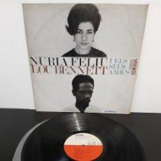 Discos de vinilo: MUY DIFICIL!! NÚRIA FELIU LOU BENNETT Y ELS SEUS AMICS. EDIGSA. CM150L. 1966. SPAIN.. Lote 206389898