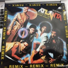 "Discos de vinilo: ATLANTA (2) - LIVING ON THE HARD STREET (REMIX) (12"", MAXI) 1986.BLANCO Y NEGRO MX 146. COMO NUEVO. Lote 206390162"