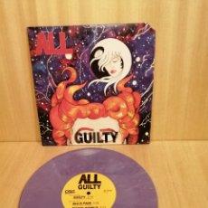 Discos de vinilo: ALL. GUILTY. 10'' 45 RPM, DISCO PURPLE MARBLED.. Lote 206392356