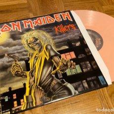 Discos de vinilo: LP DISCO DE VINILO ROSA IRON MAIDEN KILLERS. Lote 206393290