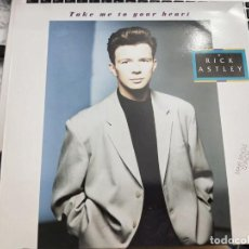 "Discos de vinilo: RICK ASTLEY - TAKE ME TO YOUR HEART (12"", SUP) SELLO:RCA, RCA CAT. Nº: 3A PT-42574. Lote 206394385"