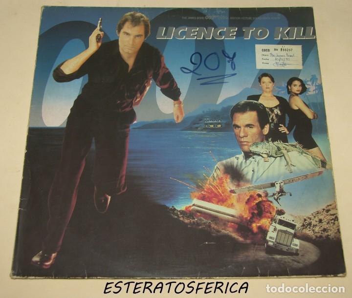LICENCE TO KILL - BSO - MCA RECORDS 1989 FRANCE (Música - Discos - LP Vinilo - Bandas Sonoras y Música de Actores )