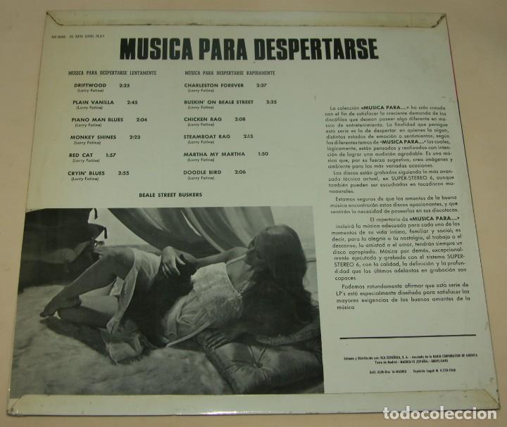 Discos de vinilo: BEALE STREET BUSKERS - MUSICA PARA DESPERTARSE - MP 1968 - Foto 2 - 206399797