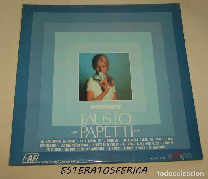 FAUSTO PAPETTI LP 1970 EKIPO/AUDIO FIDELITY (Música - Discos - LP Vinilo - Orquestas)
