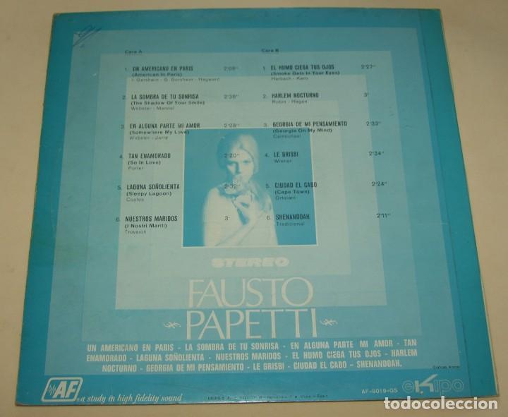 Discos de vinilo: FAUSTO PAPETTI LP 1970 Ekipo/Audio Fidelity - Foto 2 - 206402051