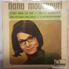 Discos de vinilo: EP / NANA MOUSKOURI / C'EST BON LA VIE +3 / FONTANA 1967 FRANCIA. Lote 206402605
