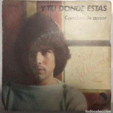 Discos de vinilo: SINGLE / MIGUEL GALLARDO / Y TU DONDE ESTAS - CANCION DE AMOR / EMI 1976. Lote 206404785