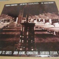 Discos de vinilo: JOHN ADAMS,FEARFUL SYMMETRIES,THE WOUND-DRESSER. 1989. Lote 206408213