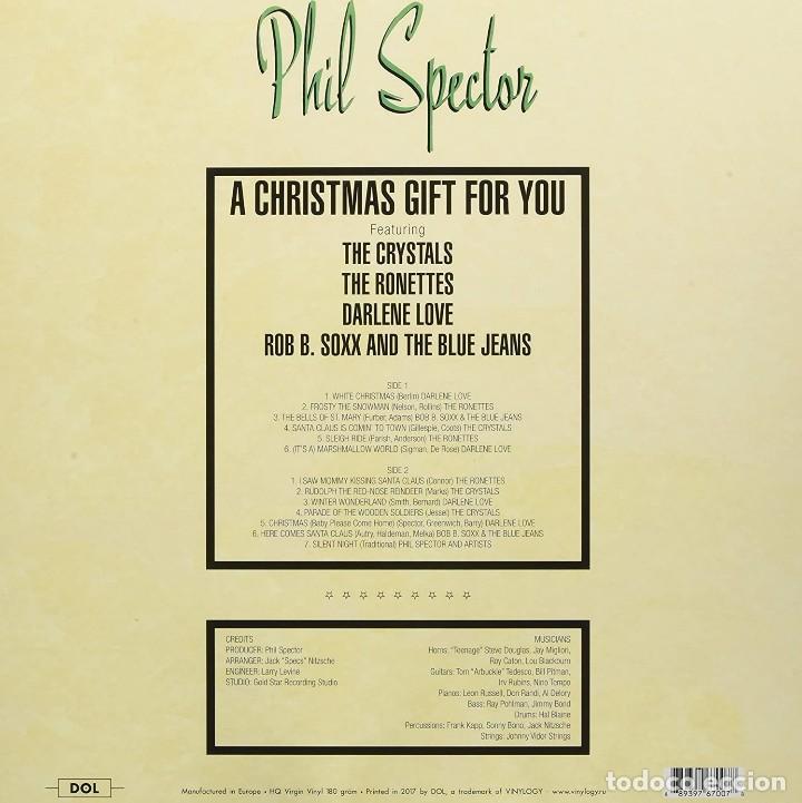 Discos de vinilo: PHIL SPECTOR * LP HQ PICTURE DISC * A Christmas Gift for You * RONETTES ...* LTD FOTODISCO NUEVO!! - Foto 3 - 206409858