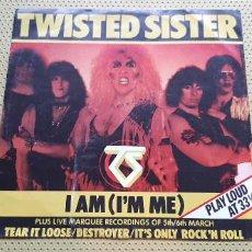Discos de vinilo: TWISTED SISTER -I AM (I'M ME)- (1983) MAXI-SINGLE. Lote 206413743