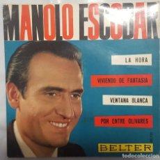 Discos de vinilo: EP / MANOLO ESCOBAR / LA HORA +3 / BELTER 1963. Lote 206413756