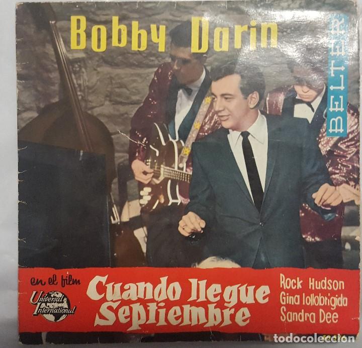 EP / B.S.O. / BOBBY DARIN Y SU ORQUESTA / CUANDO LLEGUE SEPTIEMBRE / BELTER 1962 (Música - Discos de Vinilo - EPs - Bandas Sonoras y Actores)