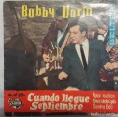 Discos de vinilo: EP / B.S.O. / BOBBY DARIN Y SU ORQUESTA / CUANDO LLEGUE SEPTIEMBRE / BELTER 1962. Lote 206413912