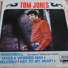 Discos de vinilo: TOM JONES– THUNDERBALL + 3 - EP 1965. Lote 206415022