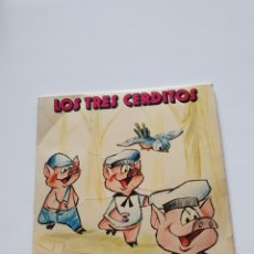 Discos de vinilo: CUENTOS EN CASTELLANO, LOS TRES CERDITOS, YUPY, 1972, ILUSTRADOR: MARIANO RUEDA.. Lote 206415030