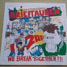 Discos de vinilo: ABSTÜRZENDE BRIEFTAUBEN -WE BREAK TOGETHER- (1987) LP DISCO VINILO. Lote 206416758