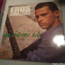 Discos de vinilo: EROS RAMAZZOTTI - MÚSICA ES. Lote 206417180