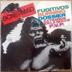 Discos de vinilo: BURNING, FUGITIVOS, DOSSIER, P.V.P., EXTRAÑOS... : BCN ROCK MAD [ESP 1991] LP/RE. Lote 206427797
