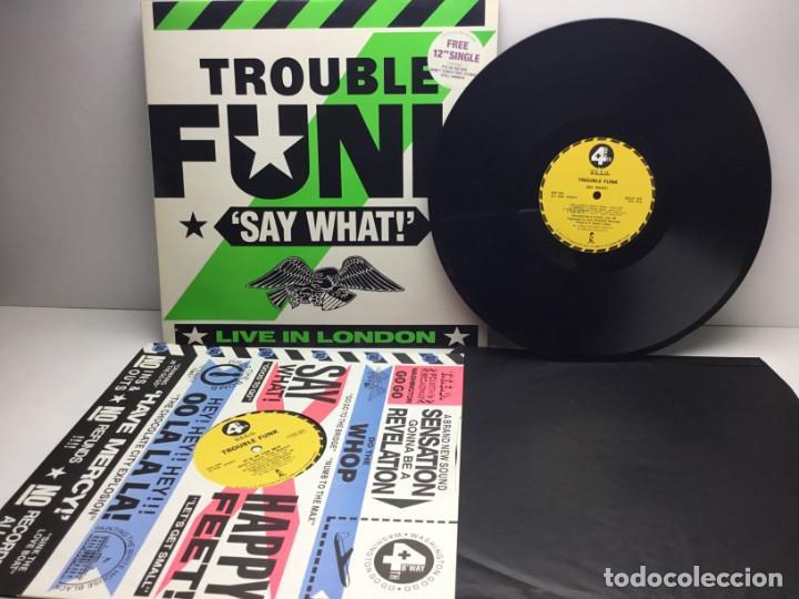 Discos de vinilo: DOBLE LP - DISCOS - 2 VINILOS - TROUBLE FUNK - IT IS IN THE MIX - AÑO 1986 - Foto 3 - 206428760