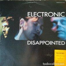 Discos de vinilo: ELECTRONIC - DISAPPOINTED - MAXI SINGLE SE 12 PULGADAS EDICION USA A 33 RPM JOY DIVISION THE SMITHS. Lote 206431081