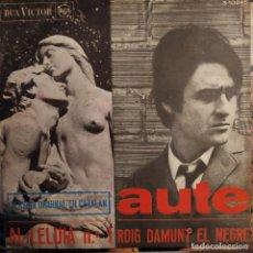 Dischi in vinile: LUIS EDUARDO AUTE - AL-LELUIA Nº 1 - ROIG DAMUNT EL NEGRE SG 1967 V.O.EN CATALAN MUY RARO. Lote 206435033