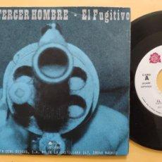 Discos de vinilo: EL TERCER HOMBRE - 45 SPAIN PS - EX * R & R DE LA MOTO / EL FUGITIVO * LA ROSA RECORDS. Lote 206436501