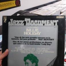 Discos de vinilo: LP BILLIE HOLIDAY A RARE LIVE RECORDING VG++. Lote 206436963