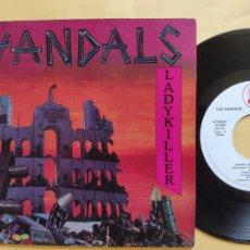 Discos de vinilo: THE VANDALS - 45 SPAIN PS - MINT * LADYKILLER / HOCUR POCUS * STALIK LABEL * 1985. Lote 206438553