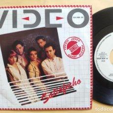 Discos de vinilo: VIDEO - 45 SPAIN PS - MINT * PROMO * SATISFECHO / NO VOY A SER TU VICTIMA. Lote 206439047