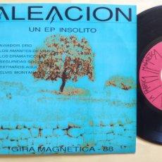 Discos de vinilo: ALEACION - EPSPAIN PS - MINT * PROMO * GIRA MAGNETICA 88 * AVIADOR DRO / SEGURIDAD SOCIAL + 4. Lote 206439926