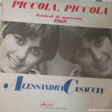 Discos de vinilo: ALESANDRA CASACCIA .SINGLE.SELLO ARISTOM .AÑO 1969. Lote 206440211