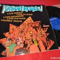 Discos de vinilo: ¡DISCOTHEQUE! LP 1969 VERGARA SIREX + ALBAS + GEMINIS + KIFERS + YERBA MATE. Lote 206442515