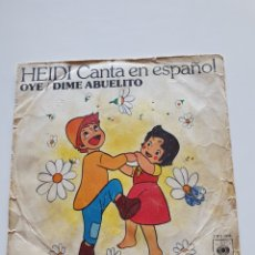 Discos de vinilo: HEIDI CANTA EN ESPAÑOL, OYE, DIME ABUELITO, CBS 3908.. Lote 206445637