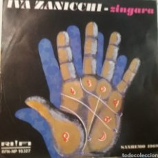 Discos de vinilo: IVA ZANICCHI SINGLE SELLO RIFI EDITADO ITALIA AÑO 1969. Lote 206446205