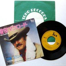 Discos de vinilo: UNIVERSAL TV SOUND ORCHESTRA - MCCLOUD / MYSTERY MOVIE THEME (COLOMBO) - SINGLE TAM 1975 JAPAN BPY. Lote 206448487
