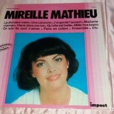 Discos de vinilo: MIREILLE MATHIEU - LP FRANCE ( IMPACT )- VER FOTOS (LEER COMO ECONOMIZAR EN GASTOS DE ENVIO). Lote 206448865