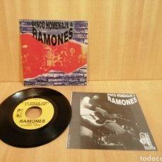 Discos de vinilo: HOMENAJE A RAMONES. LOS GARFIOS. SHOCK TREATMENT. LOS CLAVOS. MOTOSIERRAS.. Lote 206462358