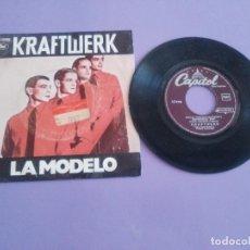 Disques de vinyle: JOYA SINGLE MUY RARO . KRAFTWERK. LA MODELO. TITULO EN ESPAÑOL.SPAIN 1979.CAPITOL 10 C 066 085 965. Lote 206464113