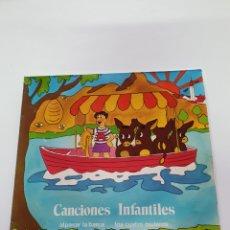 Discos de vinilo: CANCIONES INFANTILES, AL PASAR LA BARCA, LOS CUATRO MULEROS, LAS ABEJAS, AY MIGUELIN, TAN-TAN, ETC.. Lote 206464873