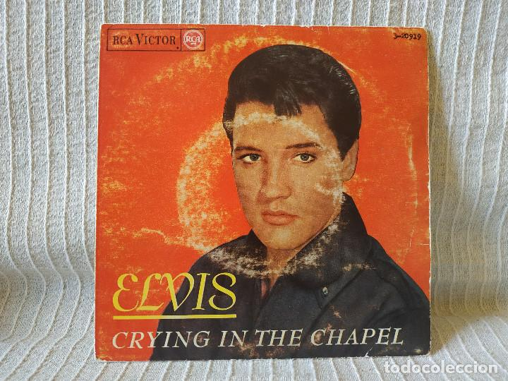ELVIS PRESLEY - CRYING IN THE CHAPEL + 3 - EP ORIGINAL SPAIN RCA VICTOR 3-20919 DEL AÑO 1965 (Música - Discos de Vinilo - EPs - Pop - Rock Extranjero de los 50 y 60	)