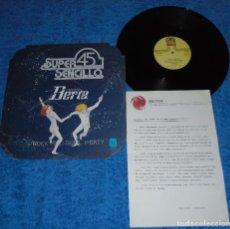 Discos de vinilo: UN GRUPO LLAMADO BERTA SPAIN MAXI SINGLE 1978 SUPER SENCILLO +INSERT ROCK AND ROLL PARTY BUEN ESTADO. Lote 206473855