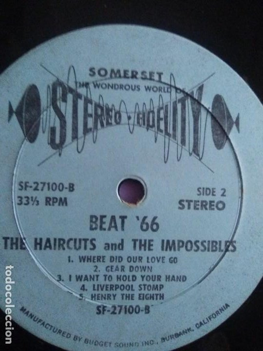 Discos de vinilo: JOYA LP 1966 . The Haircuts and The Impossibles ‎– Heres Where Its At- Beat 66. ALBUM SF 27100 - Foto 14 - 206476558
