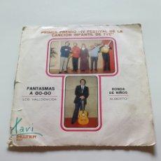 Discos de vinilo: IV FESTIVAL DE LA CANCIÓN INFANTIL DE TVE. LOS VALLDEMOSA, FANTASMAS A GOGO, RONDA DE NIÑOS, ALBERTO. Lote 206477006