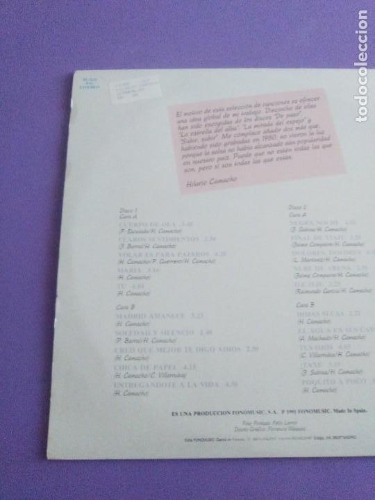 Discos de vinilo: JOYA DOBLE LP ORIGINAL RECOPILACION - Hilario Camacho - Lo esencial - 81.2125 Fonomusic AÑO 1991 - Foto 9 - 206479971