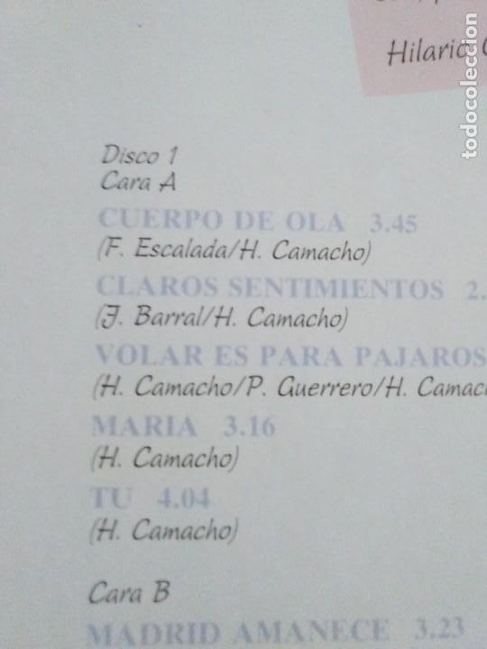 Discos de vinilo: JOYA DOBLE LP ORIGINAL RECOPILACION - Hilario Camacho - Lo esencial - 81.2125 Fonomusic AÑO 1991 - Foto 11 - 206479971